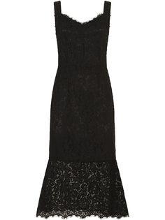 Dolce & Gabbana кружевное платье с V-образным вырезом