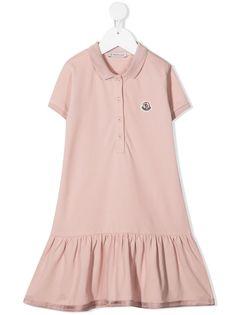 Moncler Enfant платье поло с оборками