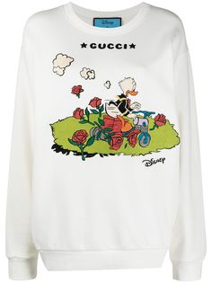 Gucci футболка с вышивкой из коллаборации с Disney