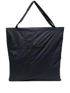 Rick Owens X Champion сумка-тоут с вышитым логотипом