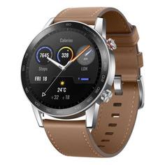 "Смарт-часы Honor Watch Magic 2 B39V, 46мм, 1.39"", серебристый / коричневый [55026742-001]"