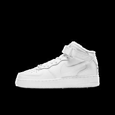 Кроссовки для школьников Nike Air Force 1 Mid LE - Белый