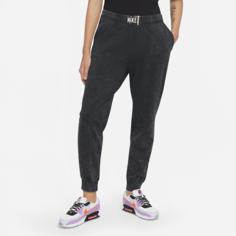 Женские брюки с эффектом выцветания Nike Sportswear - Черный