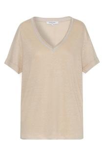Кремовая льняная футболка Joya Gerard Darel