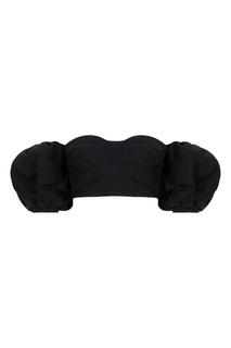 Черный кроп-топ с открытыми плечами Isabel Marant