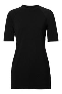 Черная приталенная футболка с логотипами Burberry