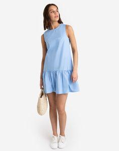 Голубое платье с воланом Gloria Jeans