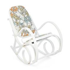 Кресло-качалка ТС 55х98х91 см ткань белый TC