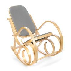 Кресло-качалка ТС 55х98х91 см ткань светло-серый TC
