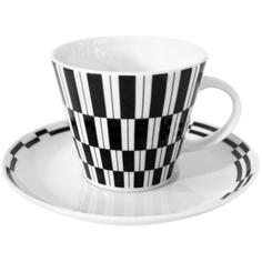 Чайная пара Thun Tom Черно-белые полоски 260 мл