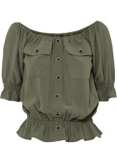 Блузка с открытыми плечами Bonprix