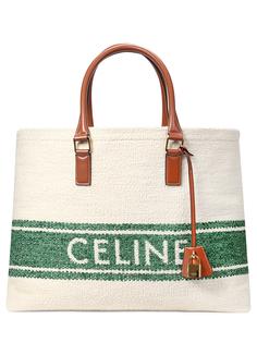 Сумка-тоут текстильная Celine