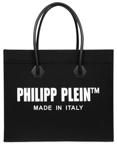 Сумка-шоппер с принтом Philipp Plein