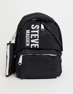 Черный рюкзак с логотипом и ремешком на запястье Steve Madden Nepal