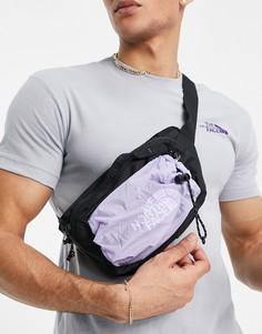Сиреневая сумка-кошелек на пояс The North Face Bozer III-Фиолетовый цвет