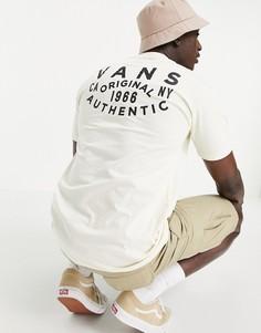 Белая футболка с короткими рукавами и накладкой Vans OG-Белый