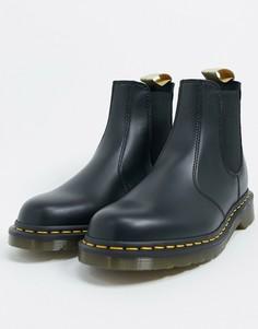 Черные ботинки челси из искусственной кожи Dr Martens 2976-Черный цвет