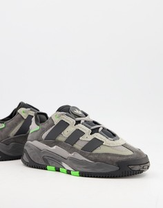 Серые кроссовки adidas Originals Niteball-Серый