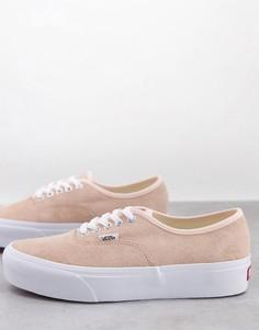 Замшевые кроссовки приглушенного персикового и белого цвета на платформе Vans UA Authentic 2.0-Многоцветный