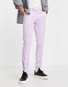 Сиреневые строгие зауженные джоггеры ASOS DESIGN-Фиолетовый цвет