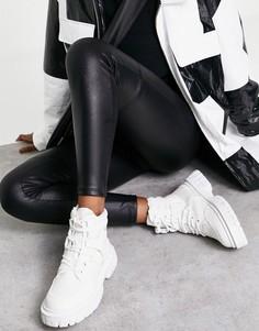 Белые походные ботинки из парусины ASOS DESIGN Acorn-Белый