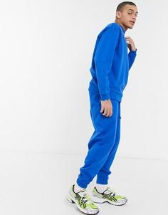 Ярко-голубые джоггеры в стиле oversized ASOS DESIGN-Голубой