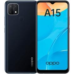 Смартфон Oppo A15 Black 32 ГБ чёрный