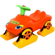 Каталка Wader Мой любимый автомобиль оранжевая со звуковым сигналом многофункциональная (44631_PLS)