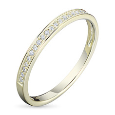 Кольцо из желтого золота с бриллиантом э0301кц04200708 ЭПЛ Якутские Бриллианты