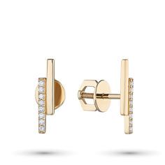 Пусеты из золота с бриллиантом э0301пс03210509 ЭПЛ Якутские Бриллианты