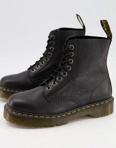 Черные ботинки с 8 парами люверсов Dr Martens 1460 Pascal Bex-Черный цвет