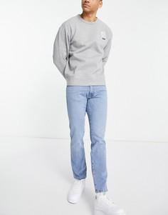Голубые суженные книзу джинсы узкого кроя Wrangler Larston-Голубой