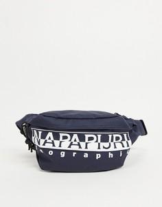 Темно-синяя сумка-кошелек на пояс Napapijri Happy WB-Черный цвет
