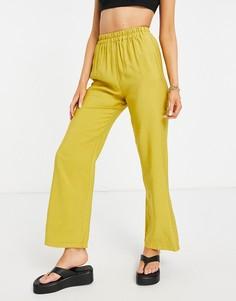 Свободные джоггеры зеленовато-желтого цвета ASOS DESIGN-Желтый