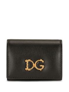Dolce & Gabbana клатч на кнопке с логотипом