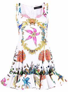 Versace платье мини с принтом Trésor De La Mer