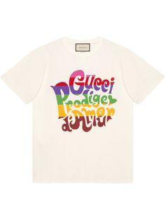 Gucci футболка с принтом Prodige dAmour