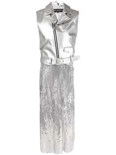 Junya Watanabe платье с эффектом металлик