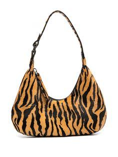 BY FAR мини-сумка с тигровым принтом
