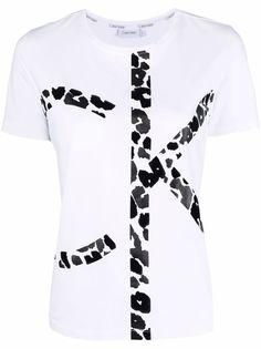 Calvin Klein футболка с леопардовым принтом