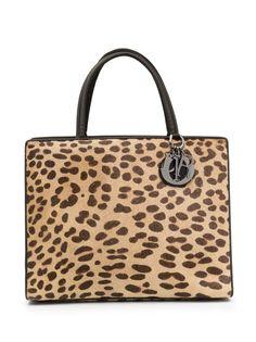 Christian Dior сумка-тоут pre-owned с леопардовым принтом