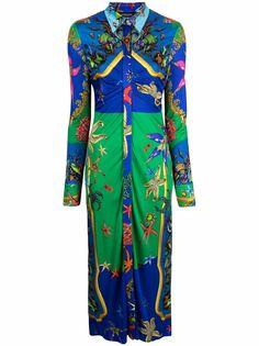 Versace платье с принтом Trésor De La Mer