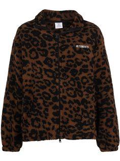 VETEMENTS флисовая куртка с леопардовым принтом