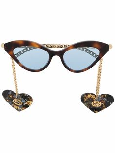 Gucci Eyewear солнцезащитные очки в оправе кошачий глаз