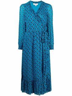 Michael Michael Kors платье с запахом и цветочным принтом