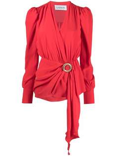 LANVIN блузка с драпировкой