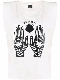 Pinko футболка без рукавов с графичным принтом