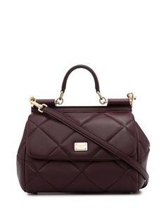 Dolce & Gabbana стеганая сумка Sicily среднего размера