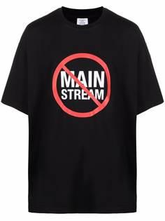 VETEMENTS футболка с принтом Mainstream