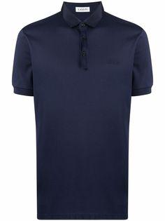 LANVIN рубашка поло с вышитым логотипом